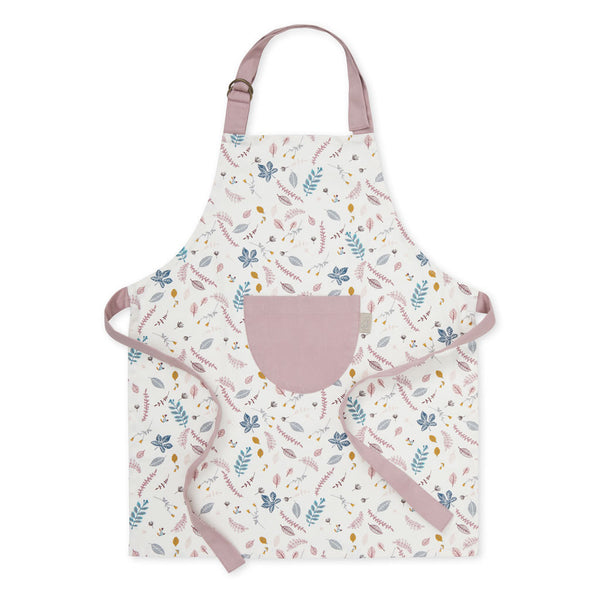 Kids Apron w/ coating - OCS Pressed Leaves Rose