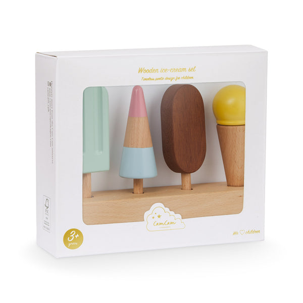 Wooden Ice Cream Set - FSC 100% Natural