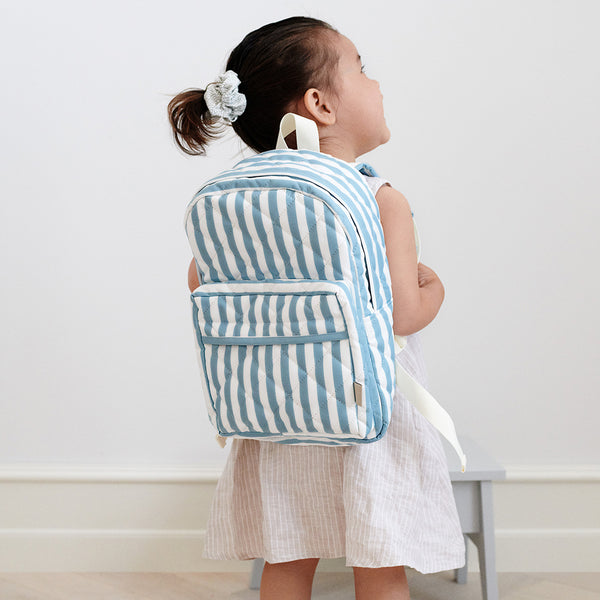 Backpack - Blue/White Stripes