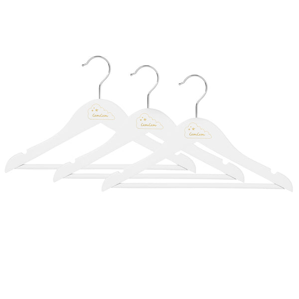 Children's Hangers, 3 pack - Cream white
