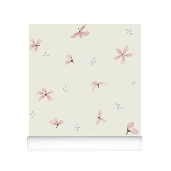 Wallpaper - Windflower Creme