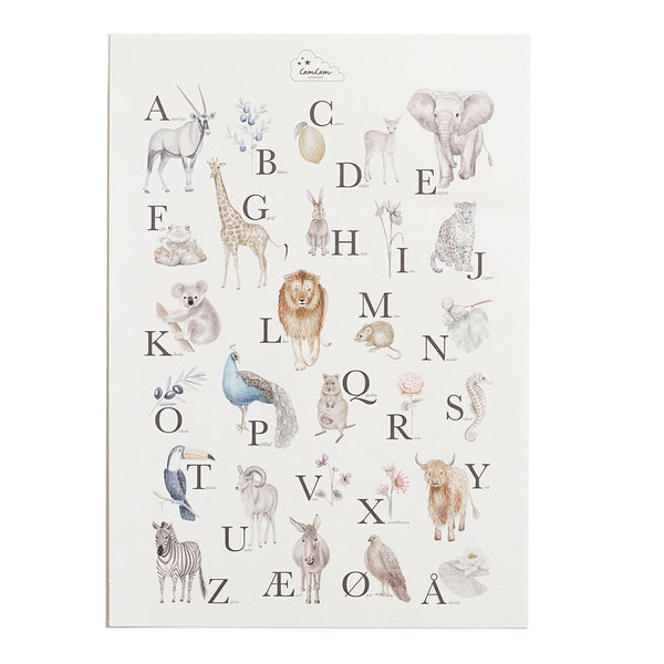 Alphabet Poster - Danish version