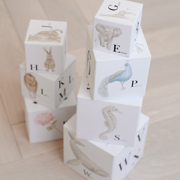 Stacking Boxes, FSC Mix - Alphabet Animals