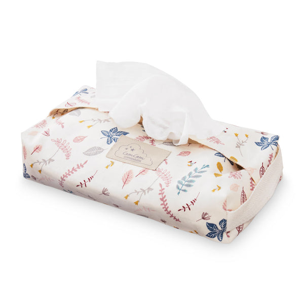 Wet Wipe Cover - GOTS Pressed Leaves Rose
