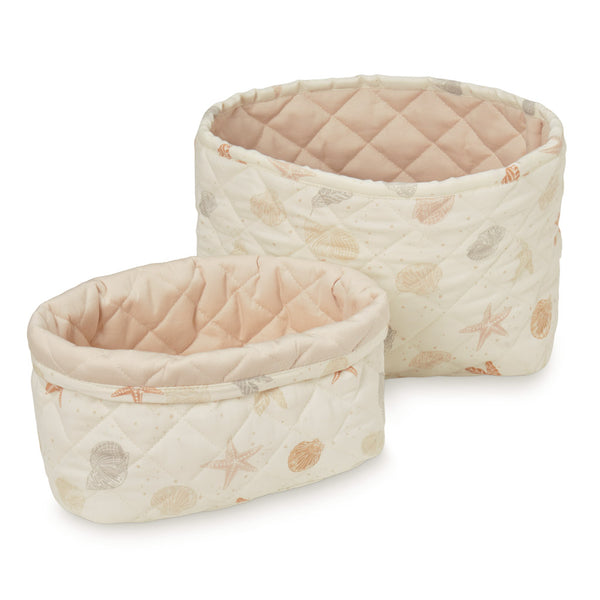 Quilted Storage Basket, Set of 2 - OCS Seabed