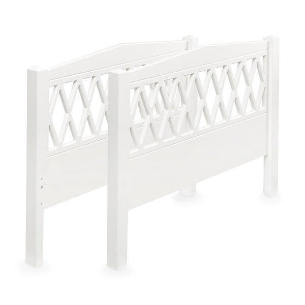 Harlequin End Panels for Junior and Single Bed - FSC White