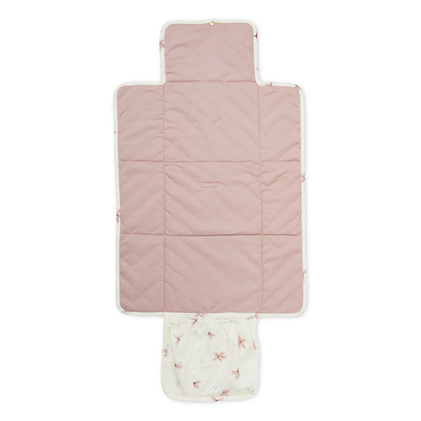 Changing Mat, Quilted - OCS Windflower Creme