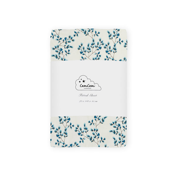 Fitted Sheet 70x140x15cm - GOTS - Fiori