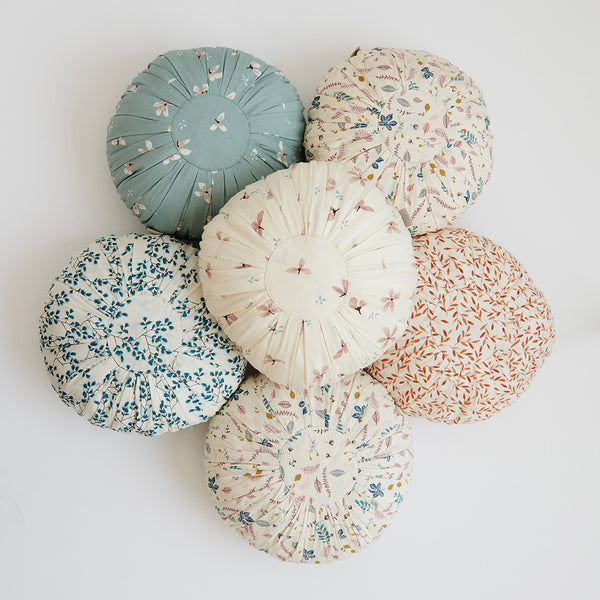 Cushion, Round - OCS Windflower Creme