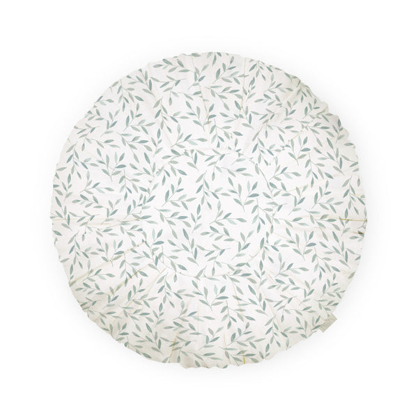 Cushion, Round - OCS Green Leaves