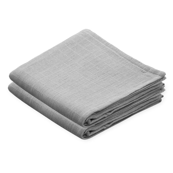Muslin Cloth, 2 pack - GOTS - Grey