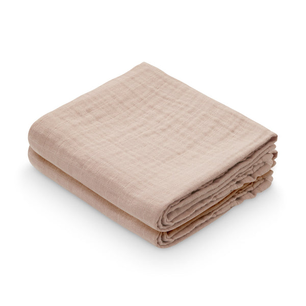 Muslin Cloth, 2-pack - GOTS Dusty Rose