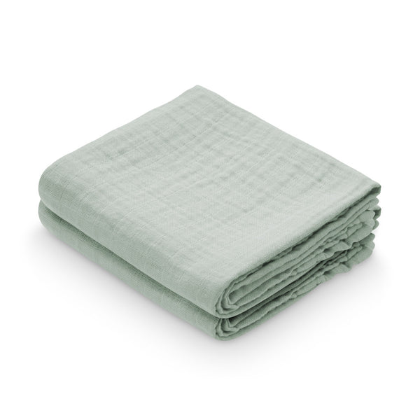 Muslin Cloth, 2-pack - GOTS Dusty Green
