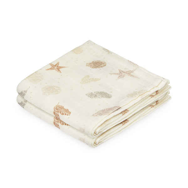 Muslin Cloth, 2-pack - GOTS Seabed