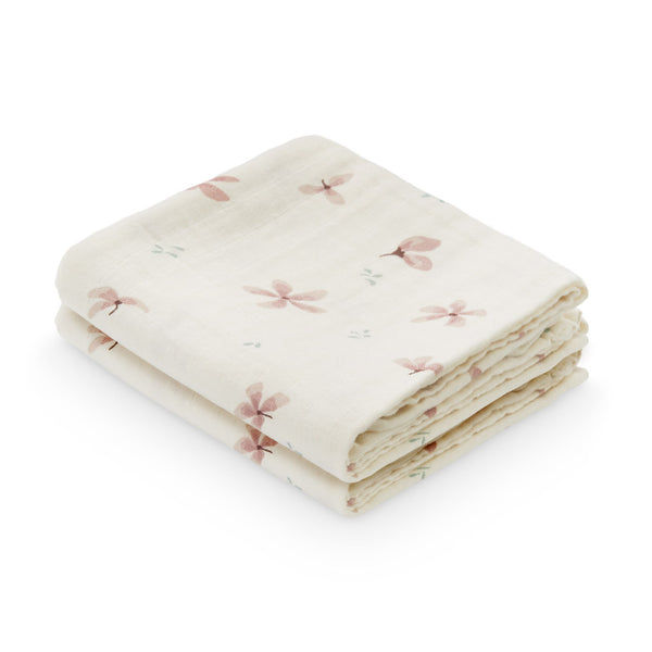 Muslin Cloth, 2-pack - GOTS Windflower Creme