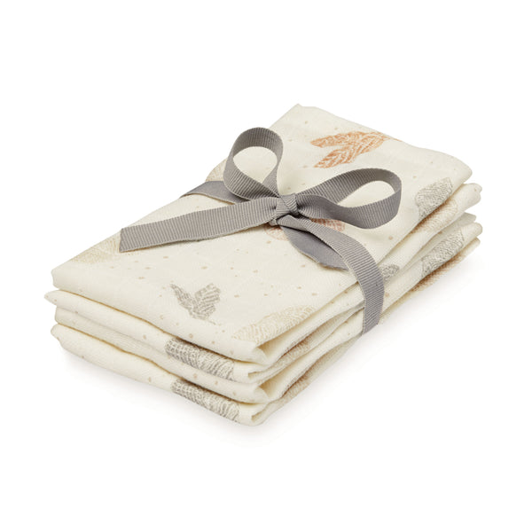 Washcloth, Muslin, 4-pack - GOTS Mix Seabed