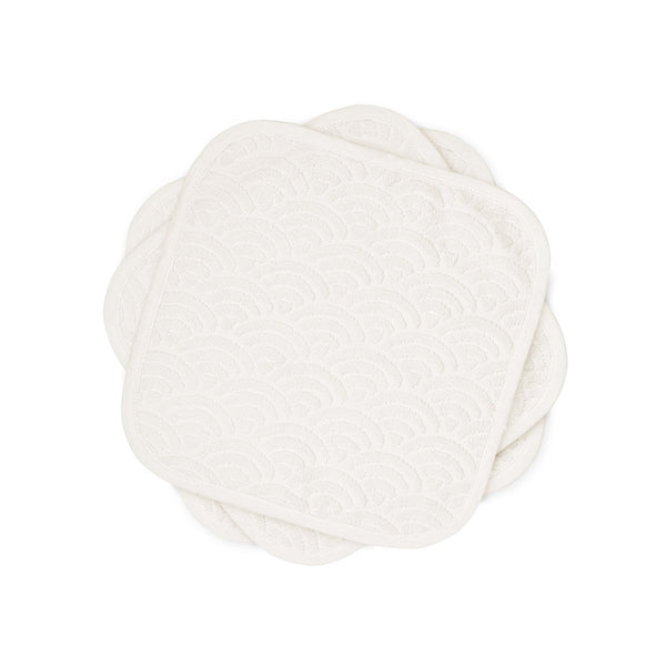 Washcloth, 30x30cm, 3-pack, - GOTS Off-White