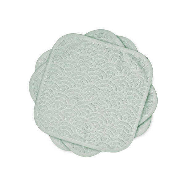 Washcloth, 30x30cm, 3-pack, - GOTS Dusty Green