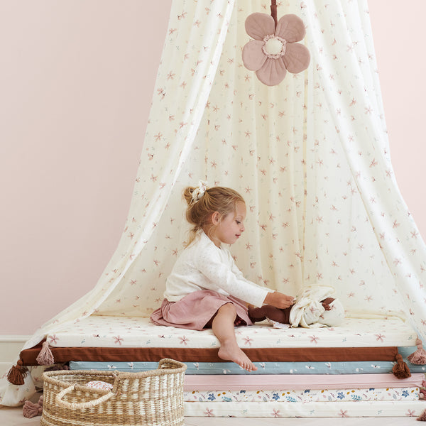 Bed Canopy - GOTS Dusty Rose