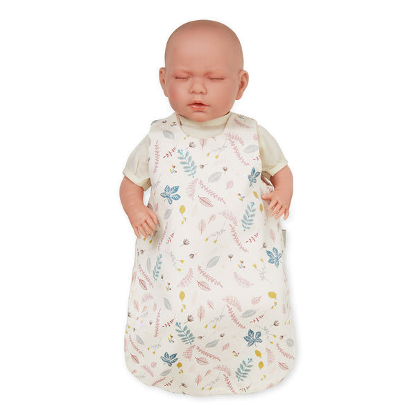 Doll's Sleeping Bag - GOTS Pressed Leaves Rose