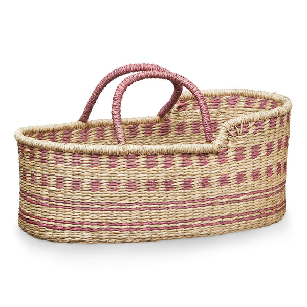 Dolls Moses Basket- Berry