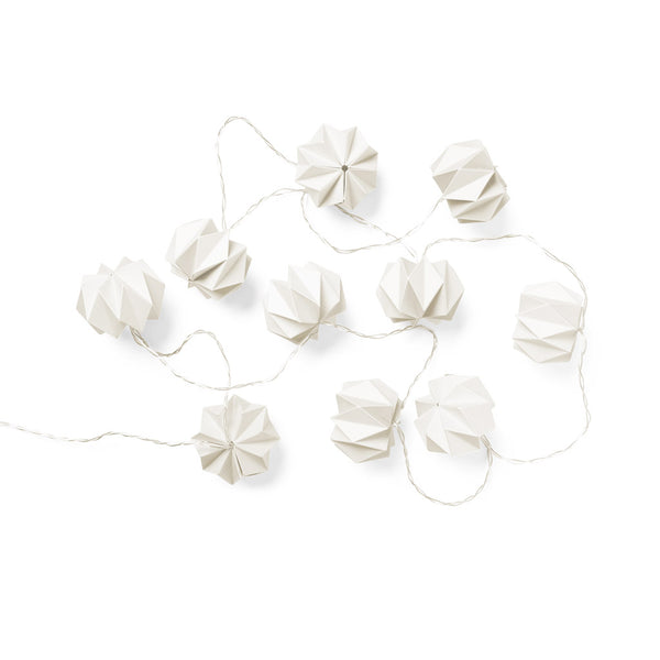 Origami String LED Lights - White