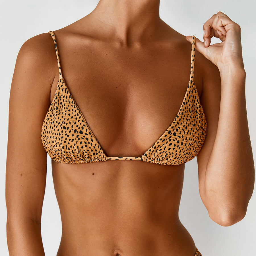 BABYLON TOP - LEMON LEOPARD