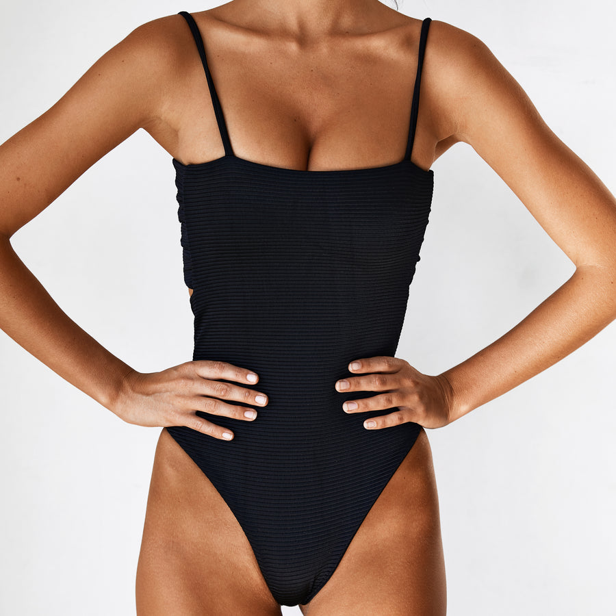 LOLA REVERSIBLE ONE PIECE - BLACK