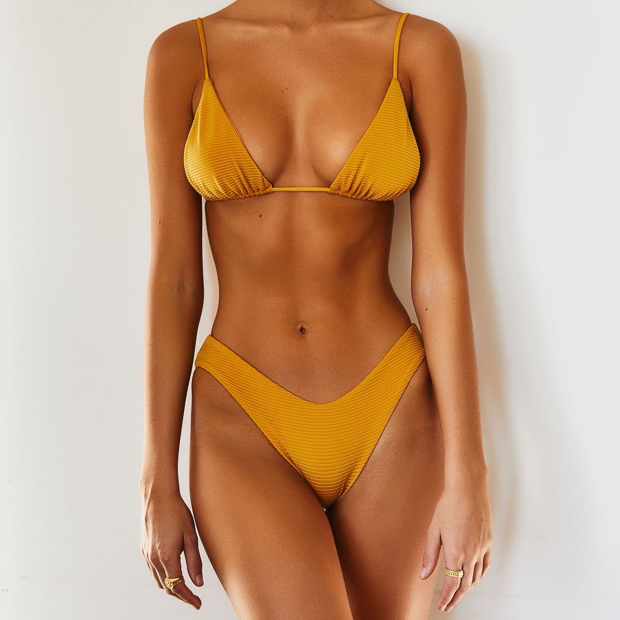 BABYLON TOP - MUSTARD