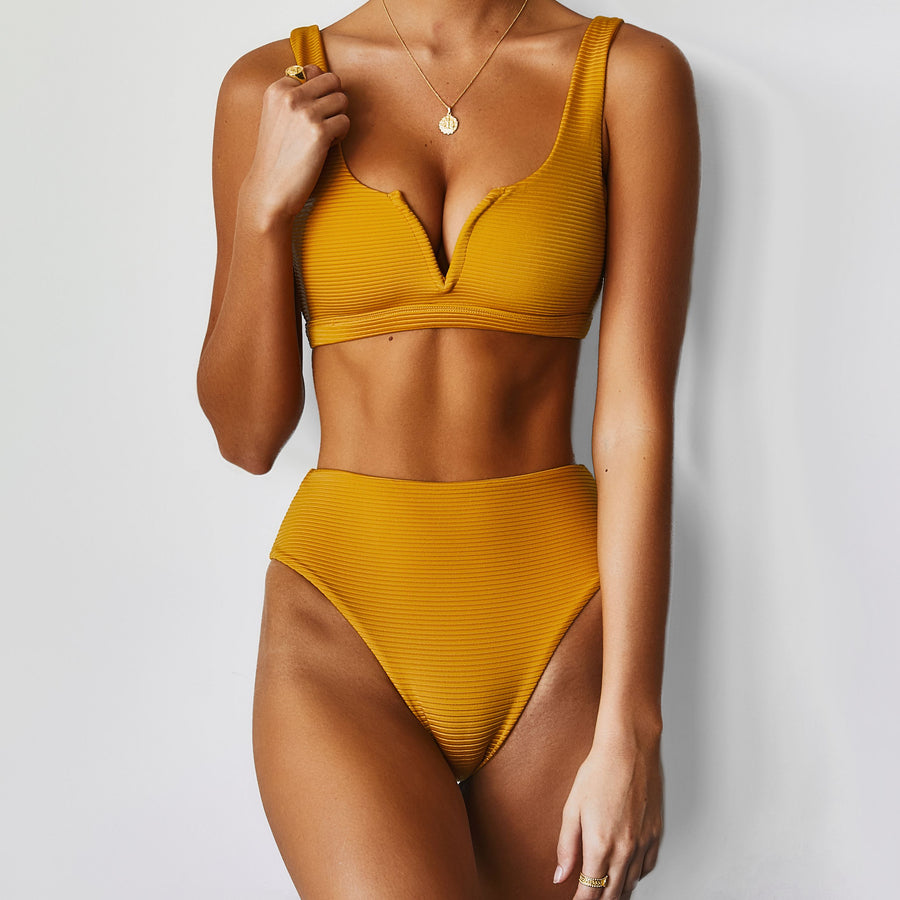 HARVEY TOP - MUSTARD