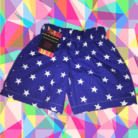 LIMITED EDITION- Blue stars shorts