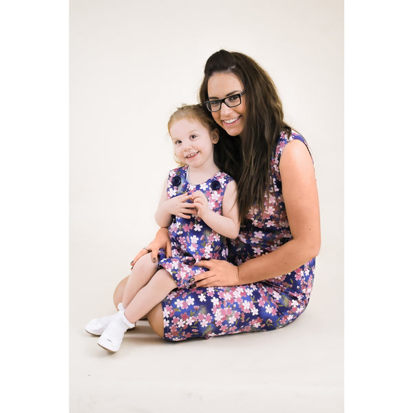 Matching mummy and daughter dress. Floral dress. Mini me. Summer collection. Bespoke dresses.