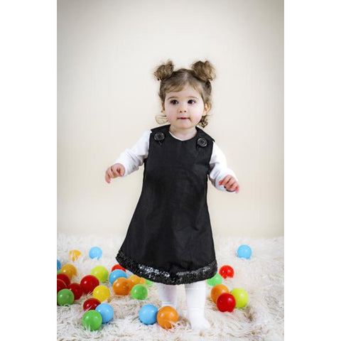 Lbd child. matching dress mum and daughter. Little black dress for girl. Girls partydress.