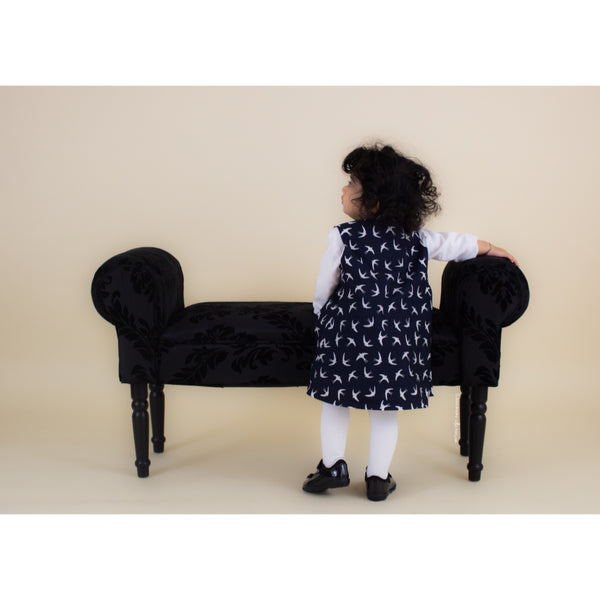 Navy Swallow Dress (Newborn to 4 years)