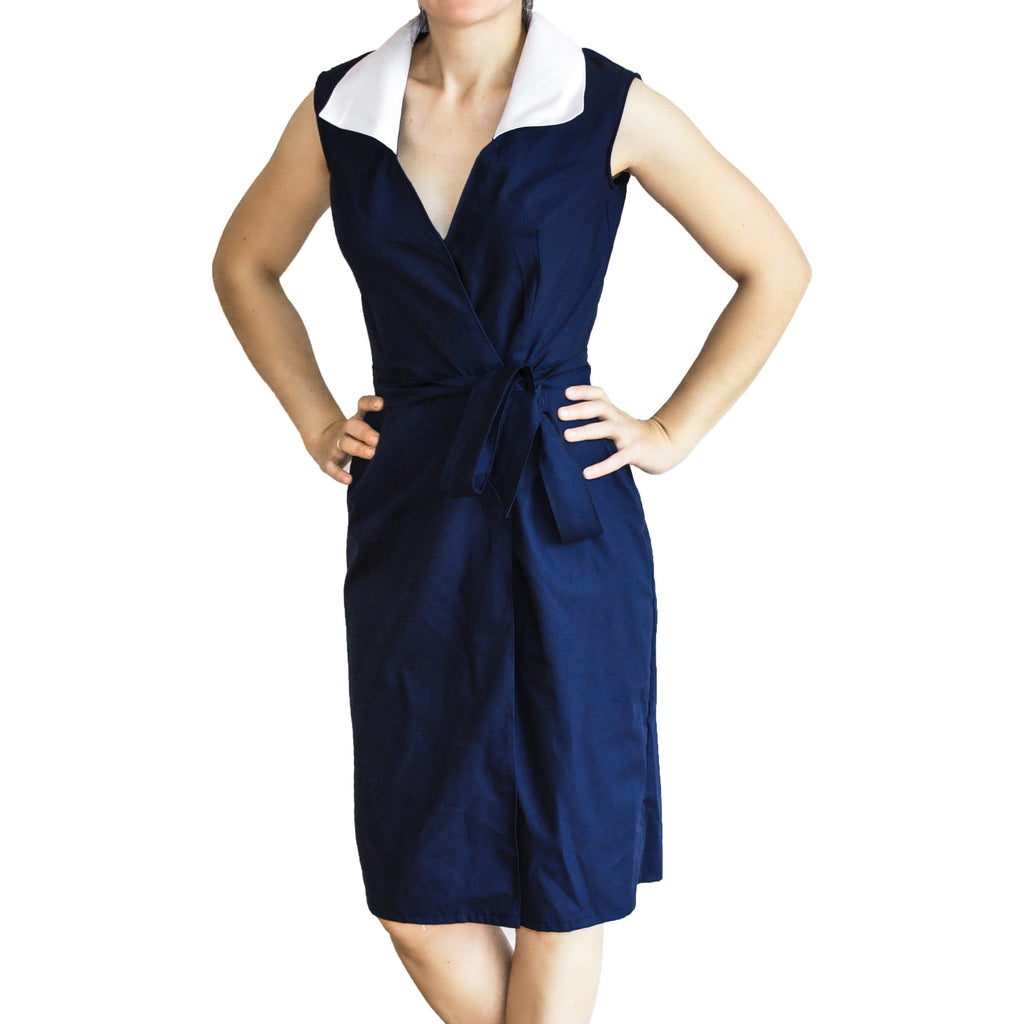Mummy's Parisian inspired navy and white dress ( great for breastfeeding)