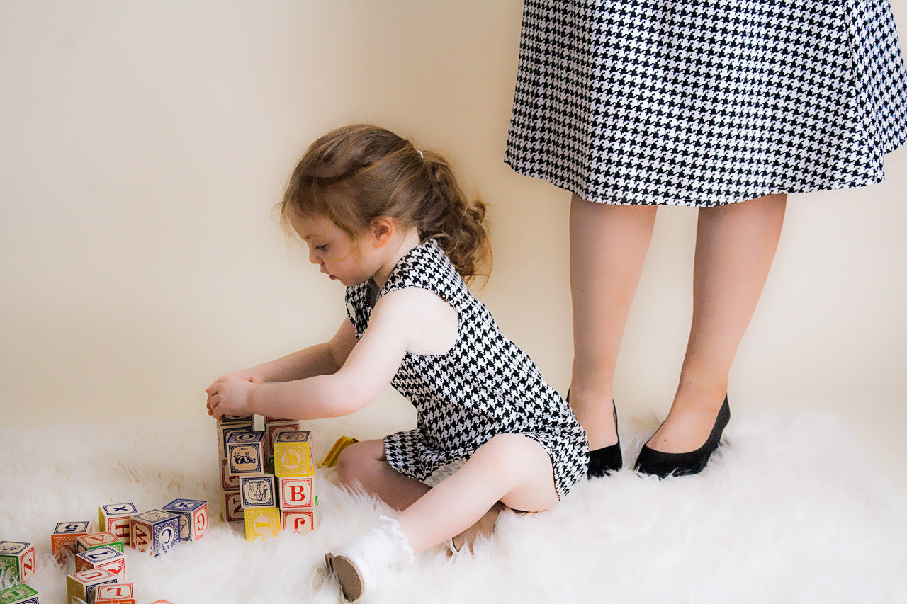 Dogtooth outfits matching mum and daughter