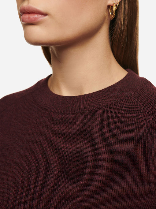 The Crewneck Sweater - Burgundy