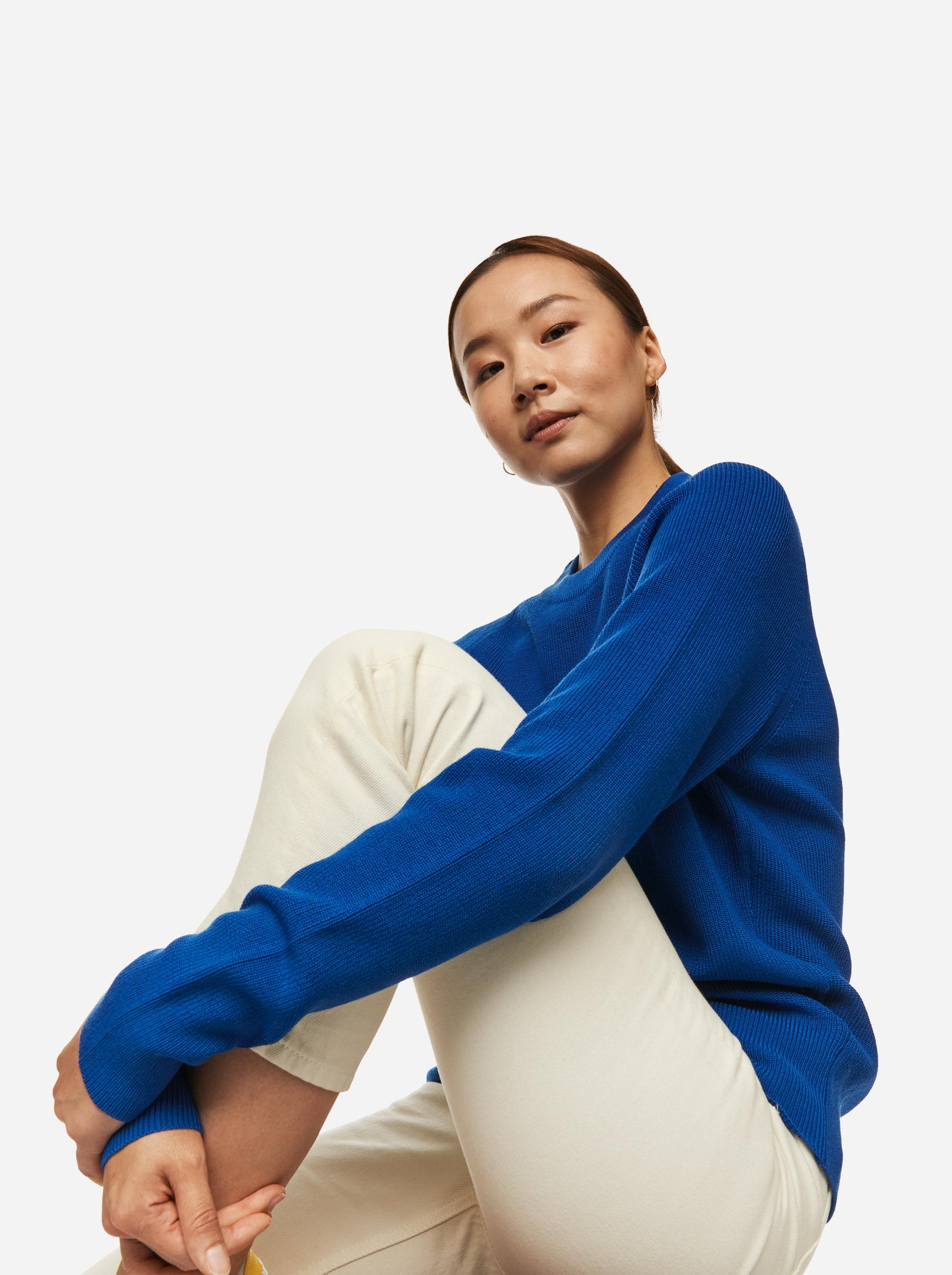 The Crewneck Sweater - Cobalt blue
