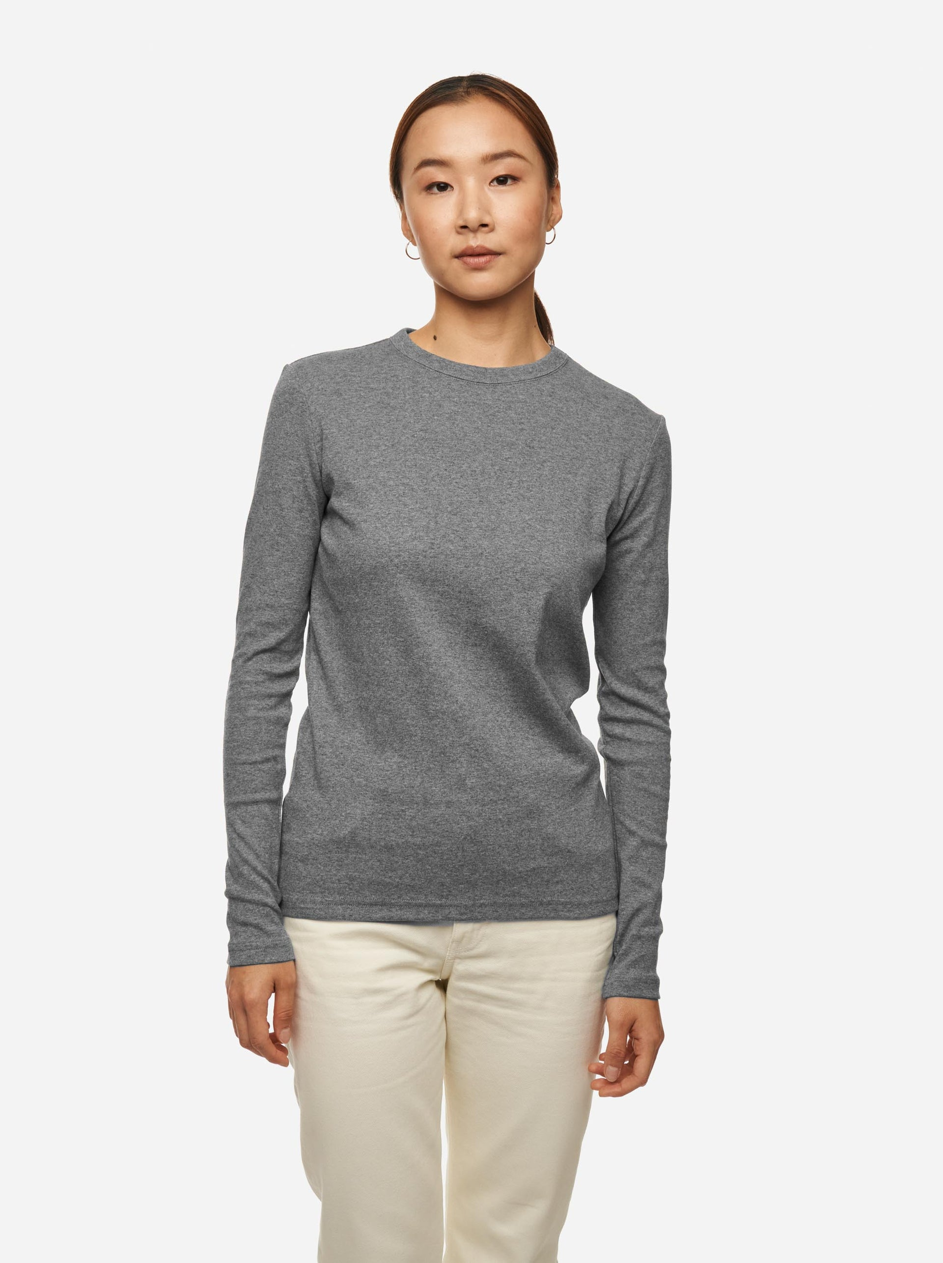 The Longsleeve T-Shirt - Melange grey