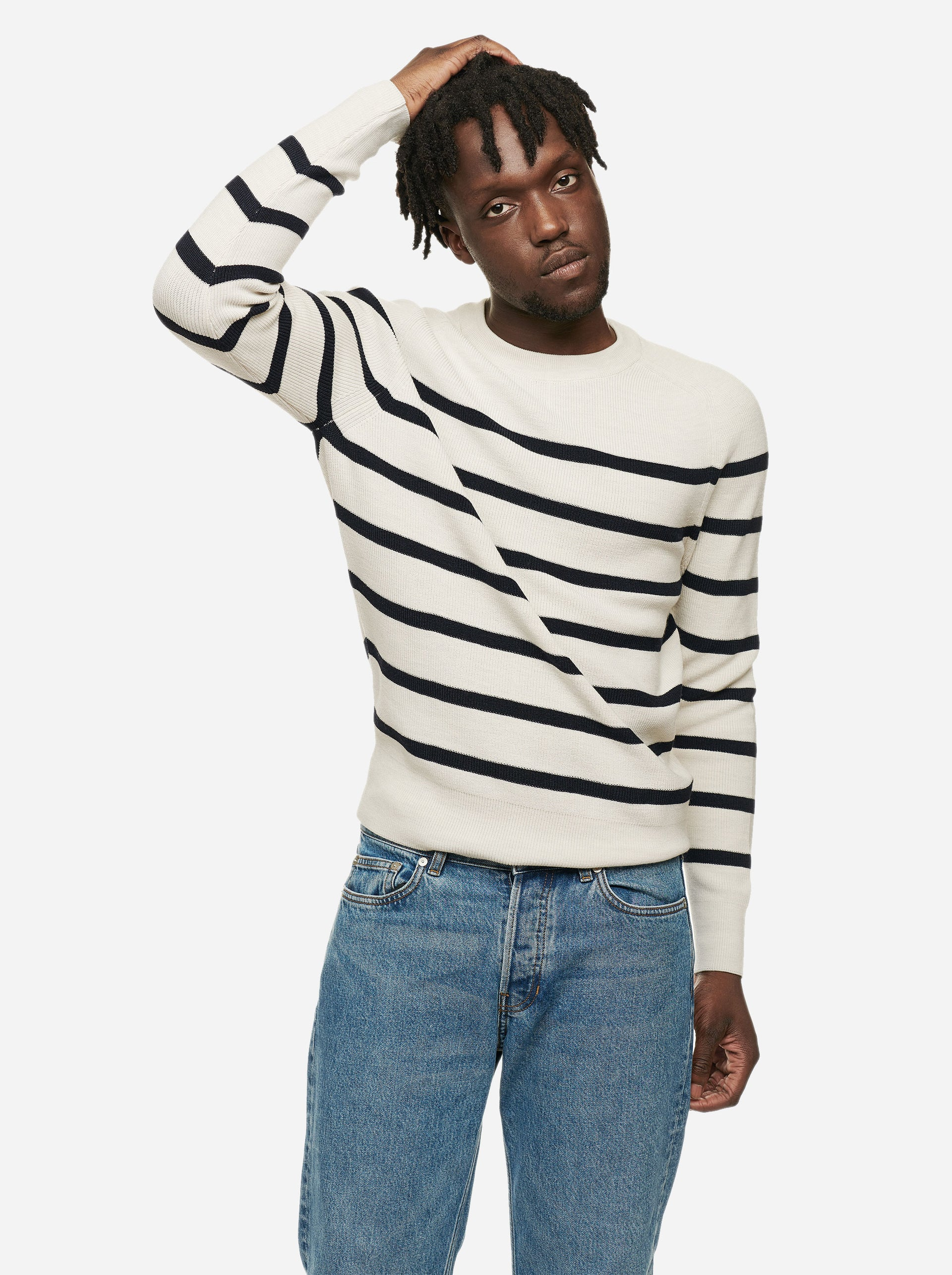 The Crewneck Sweater - Striped