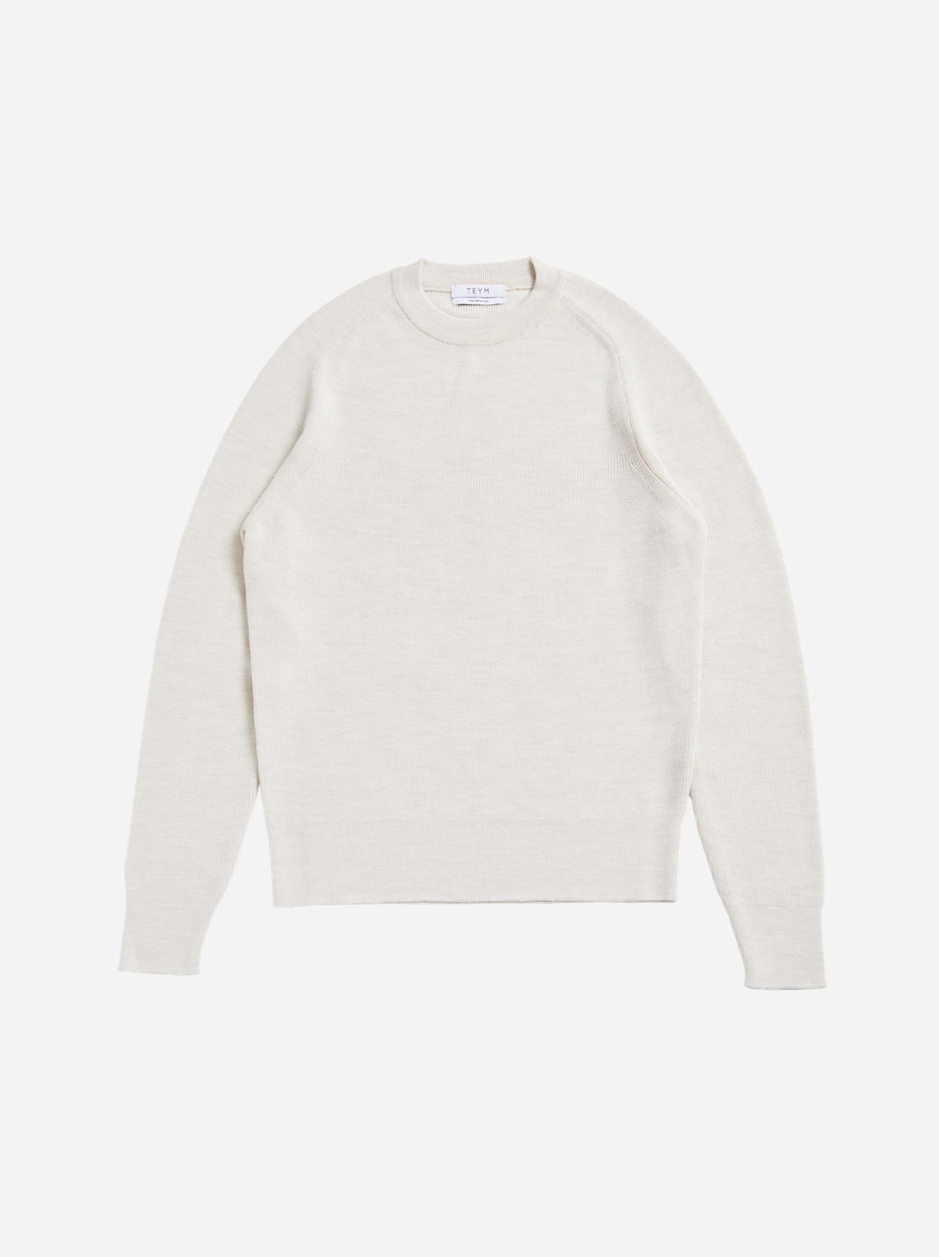 The Crewneck Sweater - White