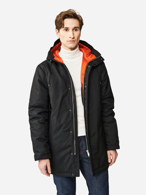 The Matte Parka - Black/orange