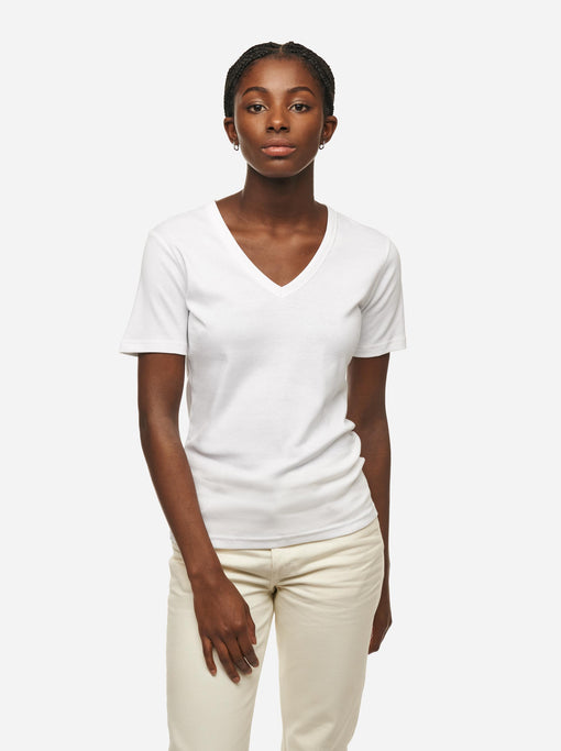 The V-Neck T-Shirt - White