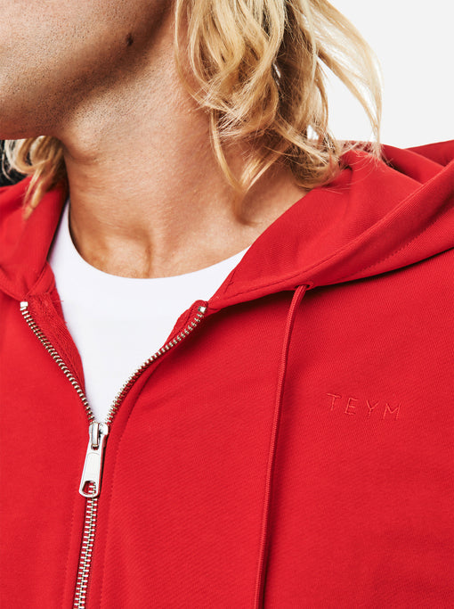 The Zip Hoodie - Red