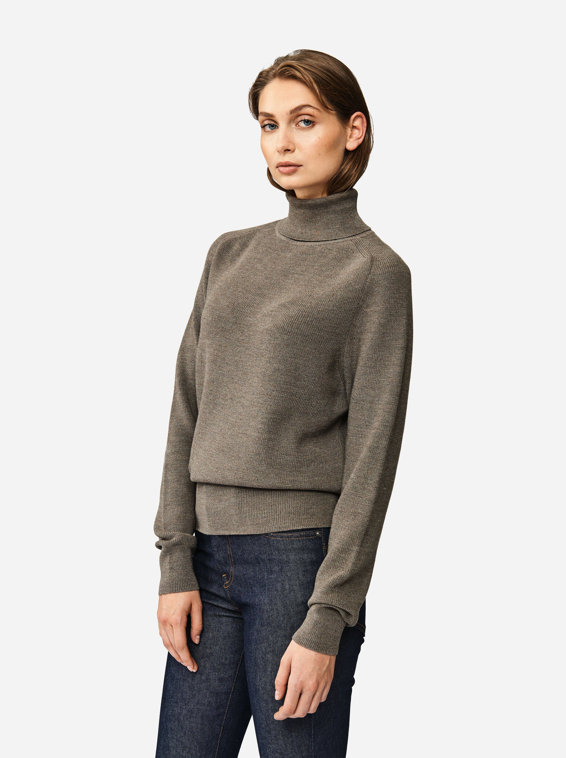 The Turtleneck Sweater - Warm grey