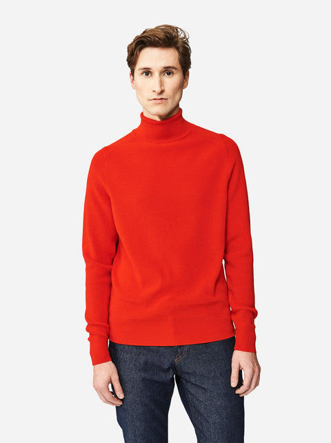The Turtleneck Sweater - Red