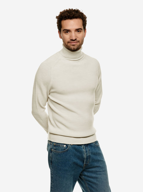 The Turtleneck Sweater - White