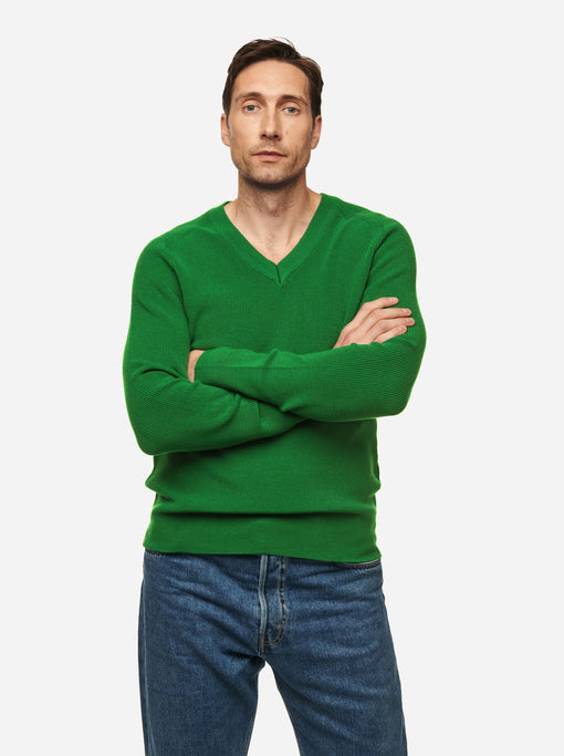 The V-Neck Sweater - Bright Green