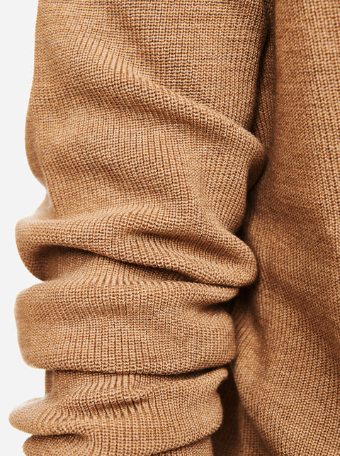 The V-Neck Sweater - Camel