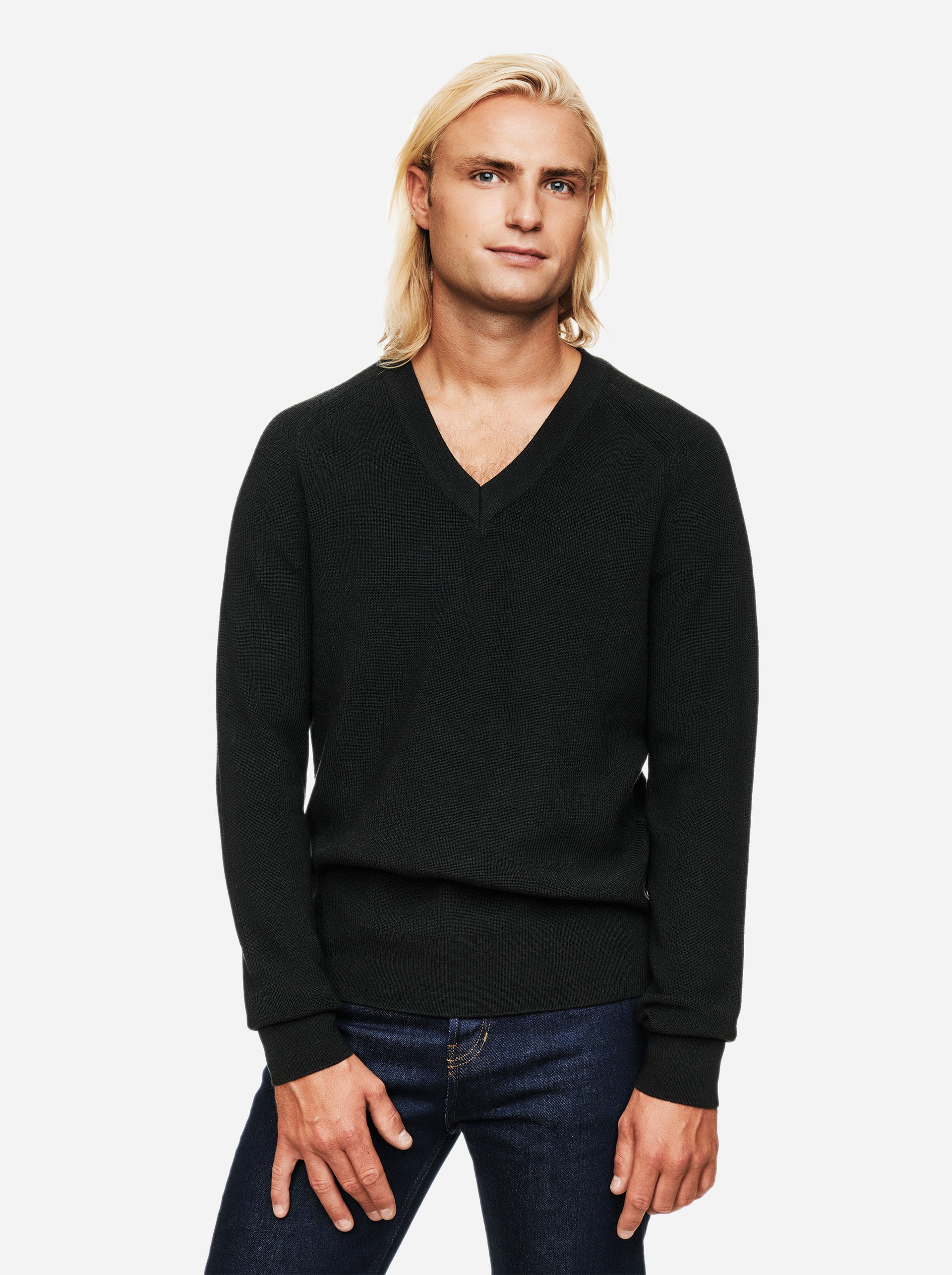 The V-Neck Sweater - Green